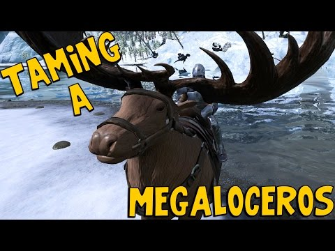 ARK: Survival Evolved - TAMING A MEGALOCEROS! [45]
