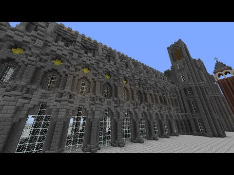 Server Build Showcase: Medieval Cathedral Wall Design