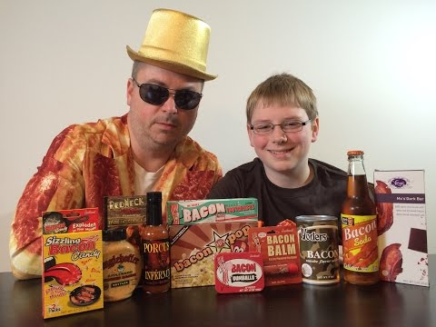 Bacon Gauntlet : Soda, Candy, Toothpaste, Hot Sauce, Popcorn : Crude Brothers