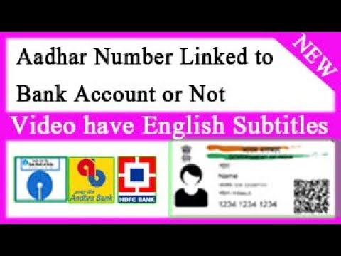 How to Check Your Aadhar Card is Linked to Your Bank Account or Not
