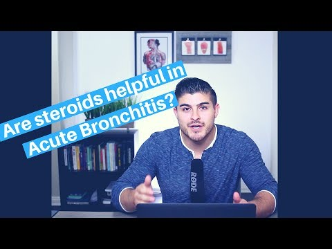 Should you give steroids for acute bronchitis?