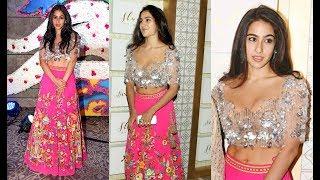 Saif Ali Khan Daughter  Sara Ali Khan Looks Hot At Sandeep Khosla Fashion Show