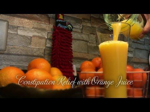 CONSTIPATION RELIEF USING ORANGE 🍊 JUICE | GLUTEN FREE | HEALTHY DRINK | CONSTIPATION RELIEF