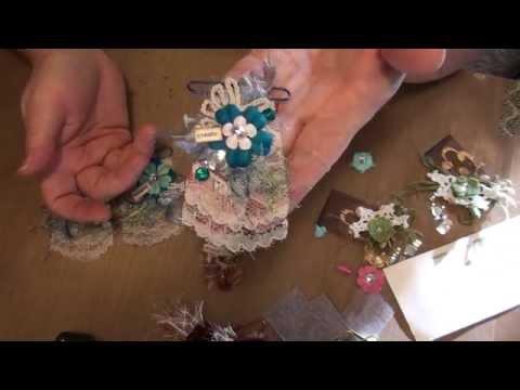Using up scraps #3- Irene paperclips tutorial