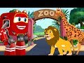 Lion Chases The ZOO Animals And Kids Rescued By Supercar Rikki Cars Cartoon Song