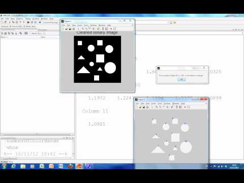 Classify and count Squares CirclesTriangles in Matlab using bwlabel and regionrprops