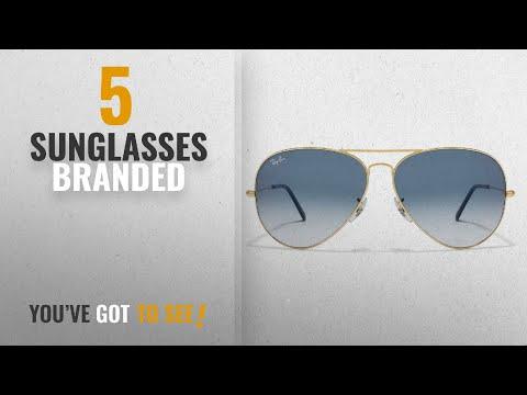 Top 10 Sunglasses Branded [2018]: Men's Branded Aviator Sunglasses Color Golden to Blue