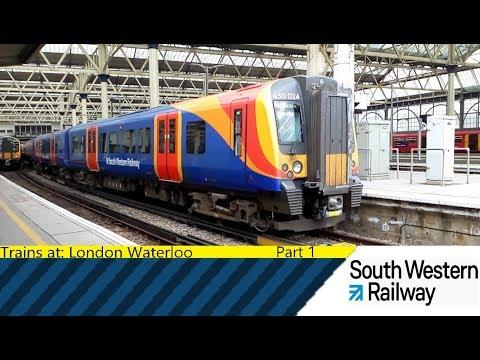 Trains at: London Waterloo - Part 1 - SWML - 28/8/18