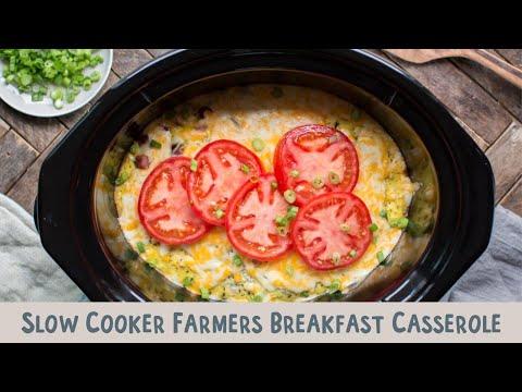 Slow Cooker Farmers Breakfast Casserole