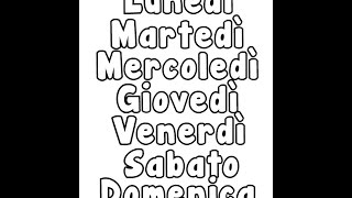 Los días de la semana en italiano - I giorni della settimana