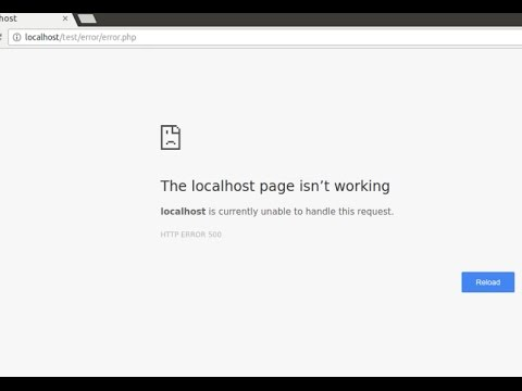 Displaying PHP errors when : The localhost page isn't working (on Ubuntu)