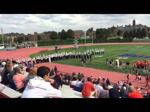 Gettysburg College Marching Band - Football Team Field Entrance - Sept 26 2015
