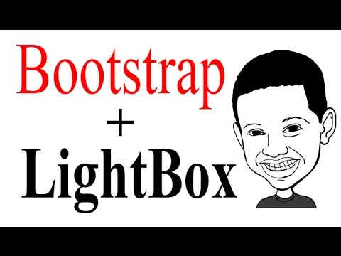 How to install Lightbox in Twitter bootstrap 3 Video Tutorial