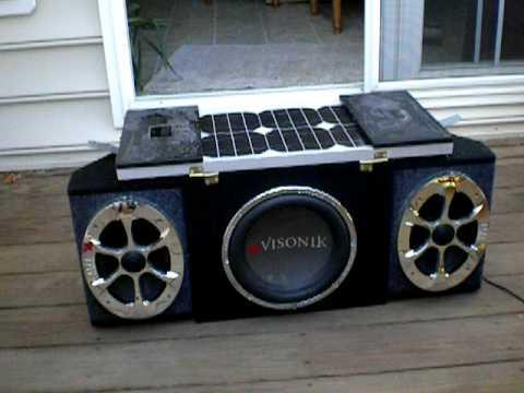 Portable Solar Car Stereo