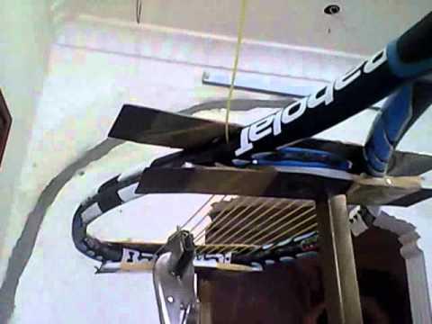 home made stringing machine   tennis racquet الة شد مضرب تنس منزلية الصنع