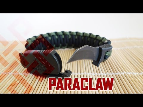 How to Make a Paraclaw Paracord Bracelet | Paracord Bracelet with Hidden Survival Knife