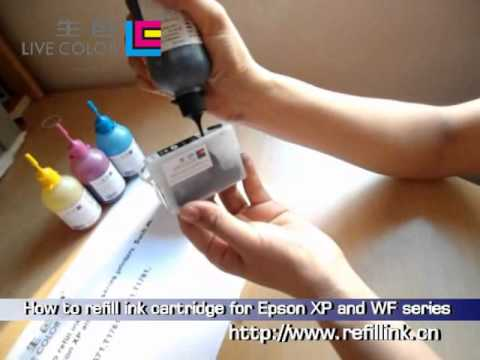 How to refill ink cartridge for Epson XP and WF series