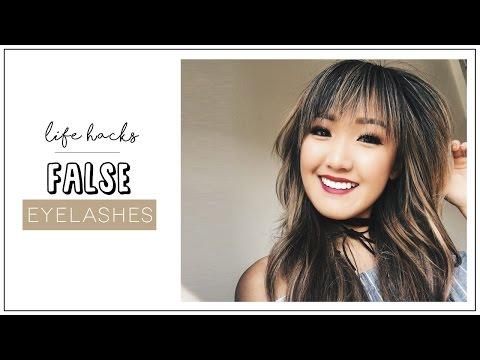 9 False Eyelashes HACKS