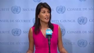 Nikki Haley (USA) on Iran, UNIFIL, Venezuela & other topics - Press Stakeout (25 August 2017)