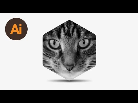 Learn How to Create a Hexagon Shaped Image with Shadow in Adobe Illustrator | Dansky