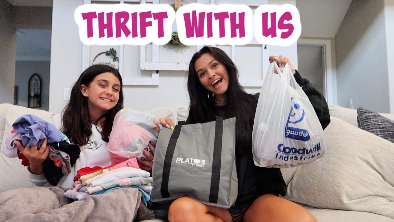 THRIFT WITH ME AND MY SISTER! THRIFT HAUL 2021! EMMA AND ELLIE
