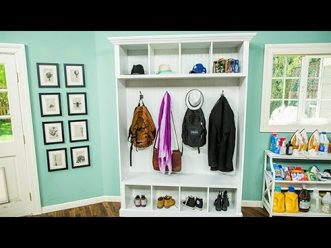 How To - Paige Hemmis' DIY Mudroom Storage - Hallmark Channel
