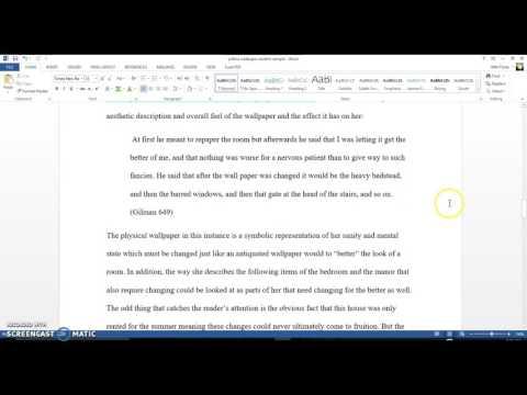 Student Sample Essay #2 Literary Analysis