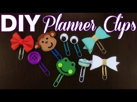 DIY - How to Make Your Own Planner Clips!