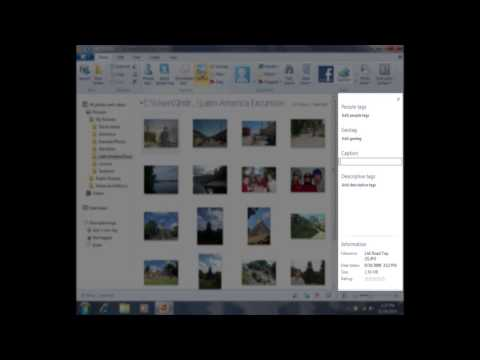 Adding a Caption to a Photo in Photo Gallery