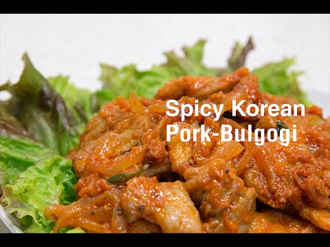 Spicy Korean Pork-Bulgogi(매운 돼지 불고기)