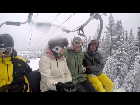 Snowboarding Adventure in Lake Louise Alberta Canada
