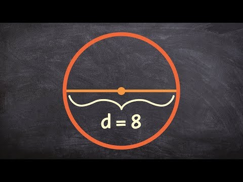 Find the area of a circle given the diameter - Online tutor - free Math videos