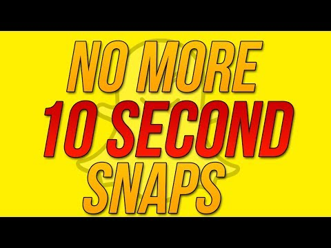Snapchat Update 10.13.0 - How to Record Longer Than 10 Seconds In Snapchat ! (Tips and Tricks)