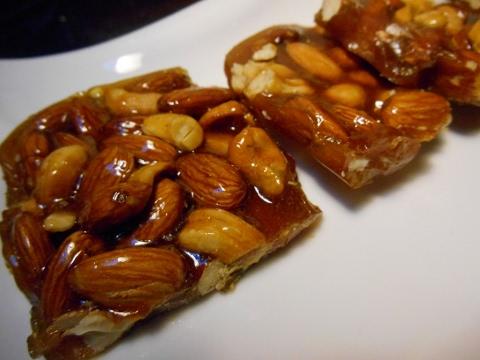 Badam aur Kaju ki Chikki-Kaju Katli -Peanut Chikki- Cashew Brittle Candy-Almond Brittle
