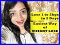 How to Lose 1 to 2 Kgs in 2 Days | Easiest Way of WEIGHT LOSE | WATERMELON and CUCUMBER