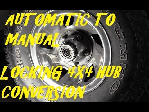 Automatic To Manual Locking Hub Conversion