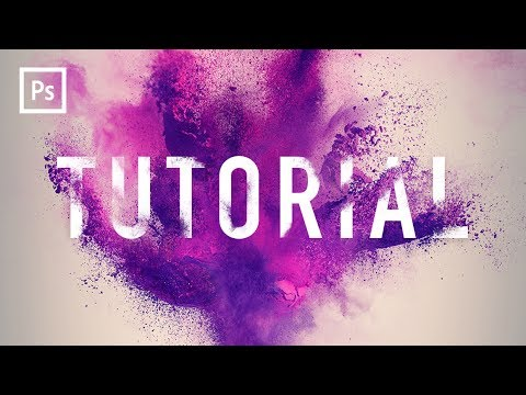 Photoshop Tutorials - Powder Blast Text Effect