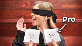 I Gave New AirPods To Strangers... But Made Them Choose! AirPods vs AirPods Pro Blind Test