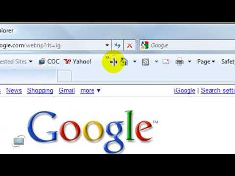 How to adjust toolbars in Internet Explorer