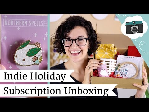 Indie Subscription Unboxing - Holiday Box of Thirds   @laurenfairwx