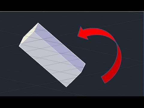 Rotate an Object with Angle - Autocad