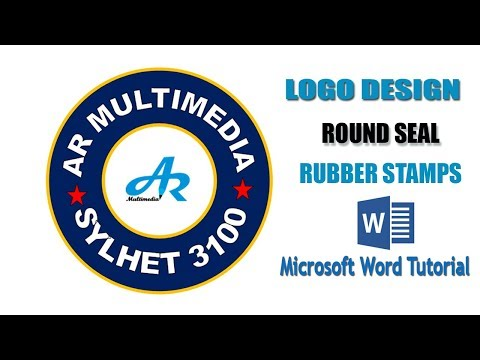 MIcrosoft Word Rubber Stamp Seal|Stamp Logo Design in MS Word|Text Circle Round Seal in MS Word