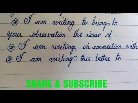 sentence structure for writing a formal letter