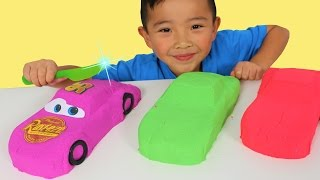 DIY Kinetic Sand Disney Cars 3 Toys And Cutting Lightning McQueen Up With Ckn Toys