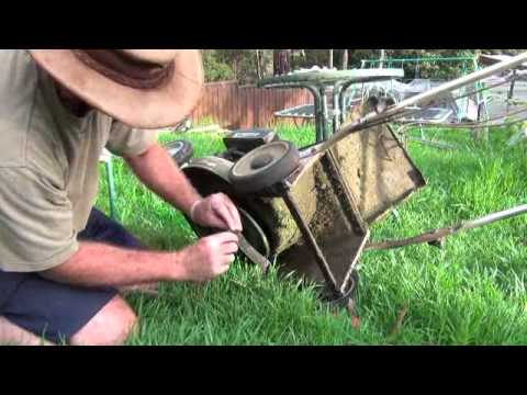 How to change blades on a lawn mower.