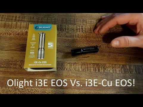 Olight i3E EOS (90 Lumens) Vs. i3E-Cu EOS (120 Lumens)