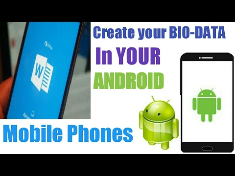 How to create bio-data or (resume) in android mobile phone (HINDI)