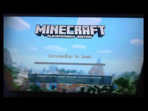 Minecraft PS4 Joining Friends NETWORK ERROR FIX!