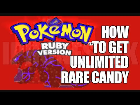 Pokémon Ruby Rare Candy and Master Ball Cheat Code