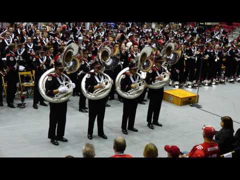 Tuba Fours Cheers Play Michigan Sucks at Skull Session Ohio State Marching Band 11 26 2016 OSU vs MI